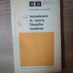 INTRODUCERE IN ISTORIA FILOZOFIEI MODERNE de C. I. GULIAN , 1974 , CONTINE SUBLINIERI