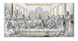 Icoana Argint Cina cea de Taina 26x13cm Auriu Cod Produs 2759