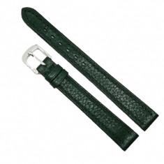 Curea de ceas din piele naturala verde - 12mm - C2989