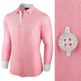 Camasa pentru barbati roz regular fit bumbac casual Business Class Ultra