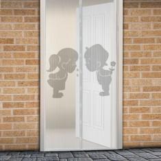 Perdea anti-ţânţari pt. uşi închidere magnetică 100 x 210 cm Model băiat+fată Best CarHome