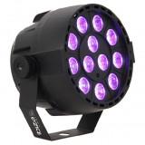 Proiector LED PAR UV 12x2W cu microfon si DMX, Ibiza