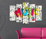 Set 5 tablouri Music