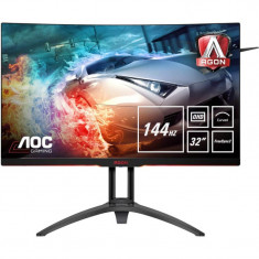Monitor LED AOC Gaming AG322QC4 Curbat 31.5 inch 2K 4 ms Black FreeSync2 144Hz