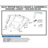 Scut motor Dacia Logan II, Sandero II, Dacia Dokker, Lodgy