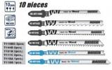 Set 10 panze fierastrau pendular lemn si metal, Raider