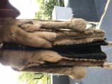 Haina de blana din piele naturala de nurca