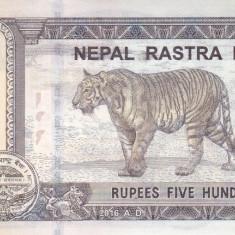 Bancnota Nepal 500 Rupii 2016 (2018) - PNew UNC ( desen nou pe spate )