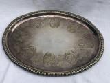 Cumpara ieftin Frumoasa tava din alama argintata perioada anilor 1910