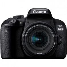 Aparat foto DSLR EOS 800D, 24.2MP, Wi-Fi, Negru + Obiectiv EF-S 18-55mm f/3.5-5.6 IS STM