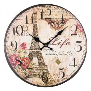 Ceas de perete Paris, MDF, 33.8 x 2 cm