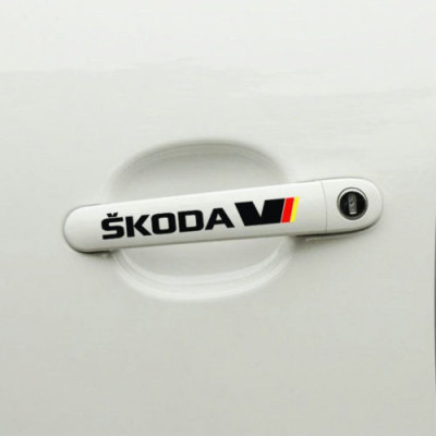 Sticker manere usa - SKODA (set 4 buc.) foto