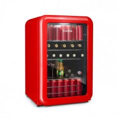 Klarstein PopLife, frigider pentru băuturi, frigider, 115 litri, 0 - 10 °C, design retro, roșu