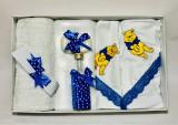 Trusou pentru botez, 7 piese Disney - Winnie the Pooh (Albastru)
