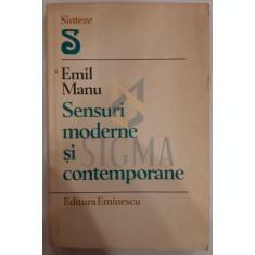 EMIL MANU - SENSURI MODERNE SI CONTEMPORANE