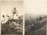 2 fotografii sași și cioban român Alba poza veche 1932