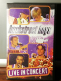 caseta VHS Originala cu BACKSTREET BOYS - LIVE (1997/JIVE/GERMANY) - ca Noua