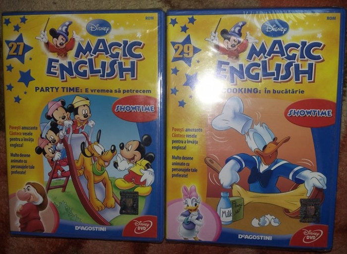 2 DVD Sigilate,Curs limba engleza Disney Magic English,DeAgostini,,T.GRATUIT