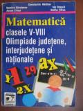 Matematica clasele V-VIII Olimpiade judetene,interjudetene si nationale-Constatin Harabor, Dumitru Savulescu