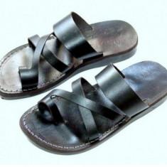 Sandale Hippie Piele Naturala cu Deget N