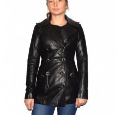 Haina dama, din piele naturala, marca Kurban, 31-01-95, negru M