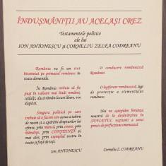 TESTAMENTELE POLITICE ALE LUI ION ANTONESCU SI CORNELIU ZELEA CODREANU R. CRISAN