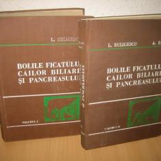 Buligescu, Ribet - Bolile ficatului, Cailor Biliare si Pancreasului (2 volume)