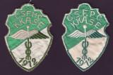 1912 Set 2 embleme brodate KKASE Cluburi Sportive studentesti de fotbal din Cluj