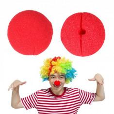 Nas Clown din burete, dimensiuni 5x5 cm, rosu