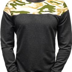 Bluză pentru bărbat fără glugă camuflaj-gri-deschis Bolf 0432