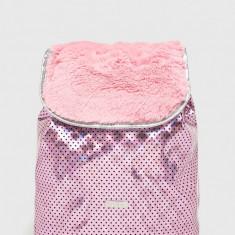Spiral - Rucsac Pink Polka Faux Fur