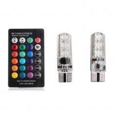 Led 10 6 Smd Multicolor Rgb Cu Telecomanda LED 046
