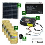 Pachet gard electric cu Panou solar 2,5J putere și 5000m Fir 160Kg