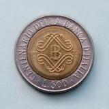 ITALIA - 500 Lire 1993 - Bank of Italy Centennial, Europa
