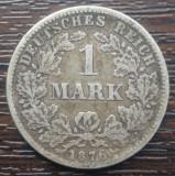 (A54) MONEDA DIN ARGINT GERMANIA - 1 MARK 1876, LIT. C, NECURATATA
