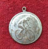 Jeton medalion medalie veche CICLIST - Ciclism - bicicleta RARA