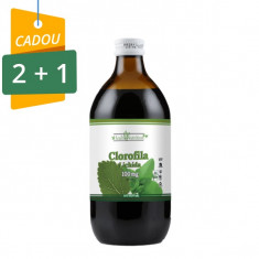 Clorofila lichida (suc) 100% naturala, 475 ml, Pachet 2+1 Cadou