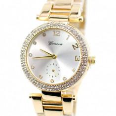 Ceas dama sic, elegant GENEVA, Crystal Shine Design - GV215GOLD
