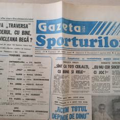 gazeta sporturilor 5 aprilie 1992-divizia a la fotbal,dinamo lider