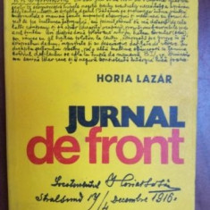 Jurnal de front- Horia Lazar