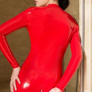 Lenjerie Lady Lust Sexy Catsuit Jumpsuit Cat Woman Vinil Piele PU Latex Vinyl