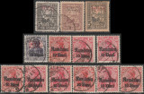 1917-1918 Ocupatia Germana in Romania - 13 timbre supratipar MViR + Rumanien
