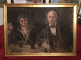 TABLOU NICOLAE VERMONT - Ulei pe panza - 110x80cm - Portretul Parintilor - 1912!, Portrete, Altul