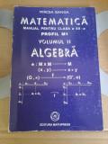 Mircea Ganga - Matematică. Profil M1. Manual clasa a XII-a - vol. 2 - algebra, Clasa 12, Matematica, Manuale