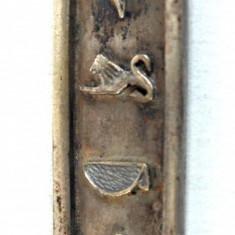 Pandant vechi argint cartus egiptean cu hieroglife - zodie taur