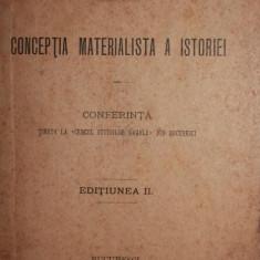 CONCEPTIA MATERIALISTA A ISTORIEI - C . DOBROGEANU - GHEREA