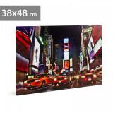 "FAMILY POUND - Tablou cu LED - ""Times Square"", 2 x AA, 38 x 48 cm"