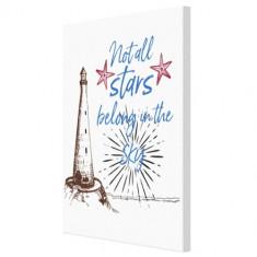 Tablou – Not all stars belong in the sky – Alb