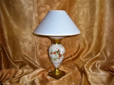 Veioza portelan Art Nouveau Empire pictata manual aur 24K, colectie