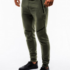 Pantaloni barbati de trening verde slim fit sport street model nou P742
